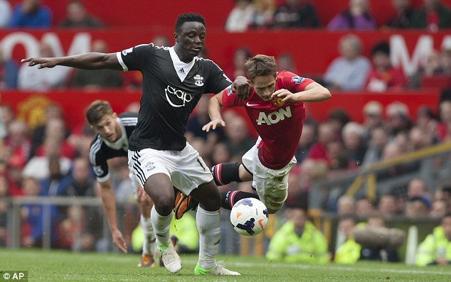 Solid as a rock: Victor Wanyama (left) was used as a defensive screen by Southampton