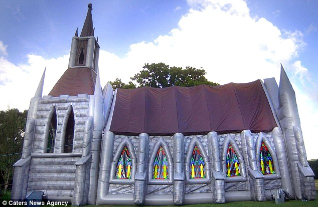Ideal: Complete with a steeple and stained-glass effect windows the church is a perfect wedding venue