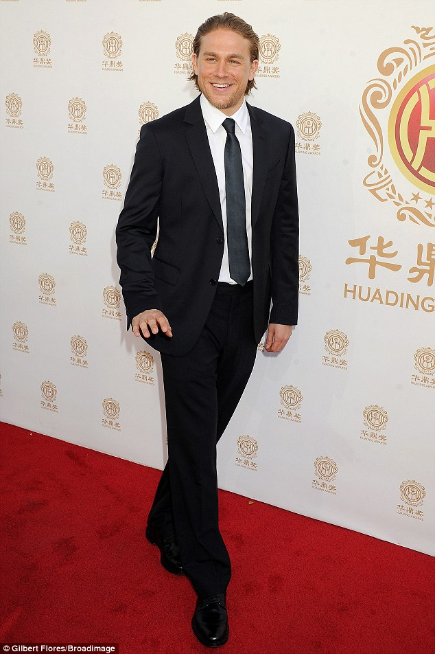 Sleek: The 34-year-old was much more dressed up than he normally is on Sons Of Anarchy