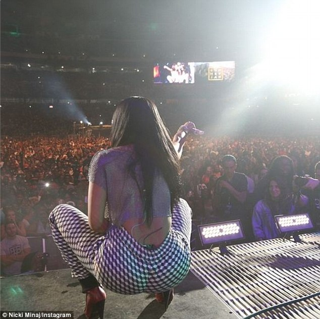 Star-studded: Nicki performed at the hip hop and R&B festival along with the likes of Lil Wayne, Drake, 50 Cent, Wiz Khalifa, Trey Songz, The Roots, Iggy Azalea, and Snoop Dogg, amongst numerous others