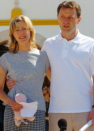 Distraught: Parents Kate McCann, holding Madeleine's Cuddle Cat soft toy, and Gerry McCann just after the three-year-old went missing in 2007