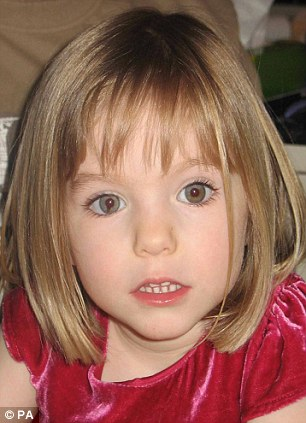 Missing girl Madeleine McCann whose parents, Kate and Gerry