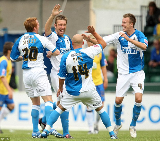 Rover and out: Lambert scores for Bristol Rovers in League One back in 2008