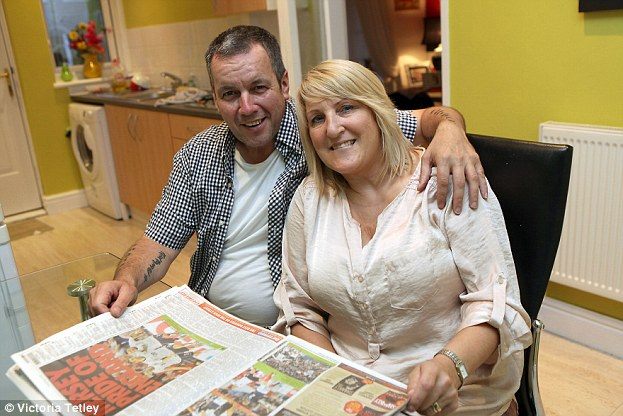 Proud: Lambert's parents Ray and Maureen, who helped their son through his difficult early career