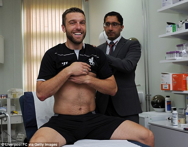 Full circle: Lambert is back where it all began after passing his medical at Melwood