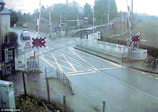 Spotted: McKenna was given seven points on his licence after he was caught on CCTV overtaking the car before charging over the junction in his Vauxhall Astra