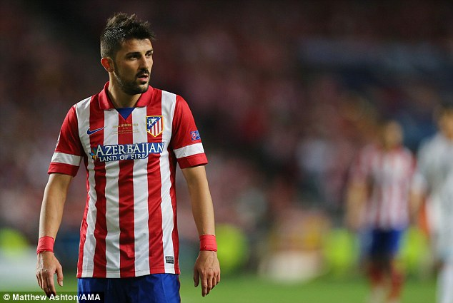 Farewell: David Villa has said his goodbyes to Atletico Madrid ahead of his move to New York City