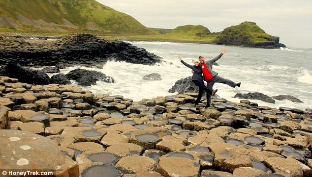 Irish charm: Dancing on The Giant's Causeway in Northern Ireland