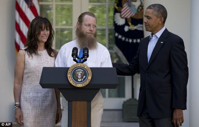 On Saturday Obama called Bergdahl's parents Jani and Bob shortly after he was secured to give them the good news. Together they officially announced the release of Bowe in the White House Rose Garden