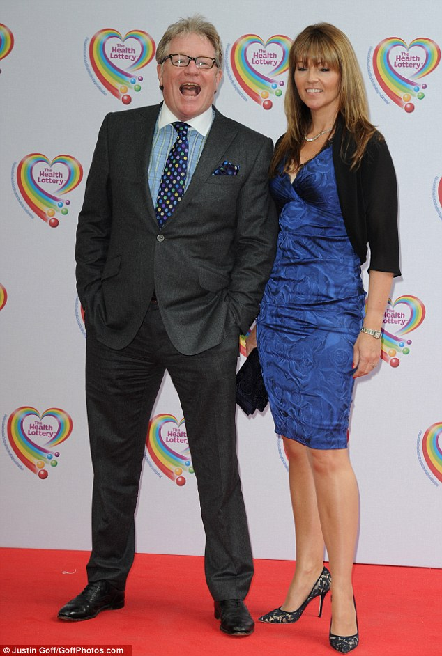 Lots of laughs: Jim Davidson attended the event with his wife, Michelle