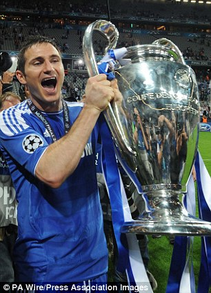 Landing the big one: Lampard celebrates with the Champions League in 2012