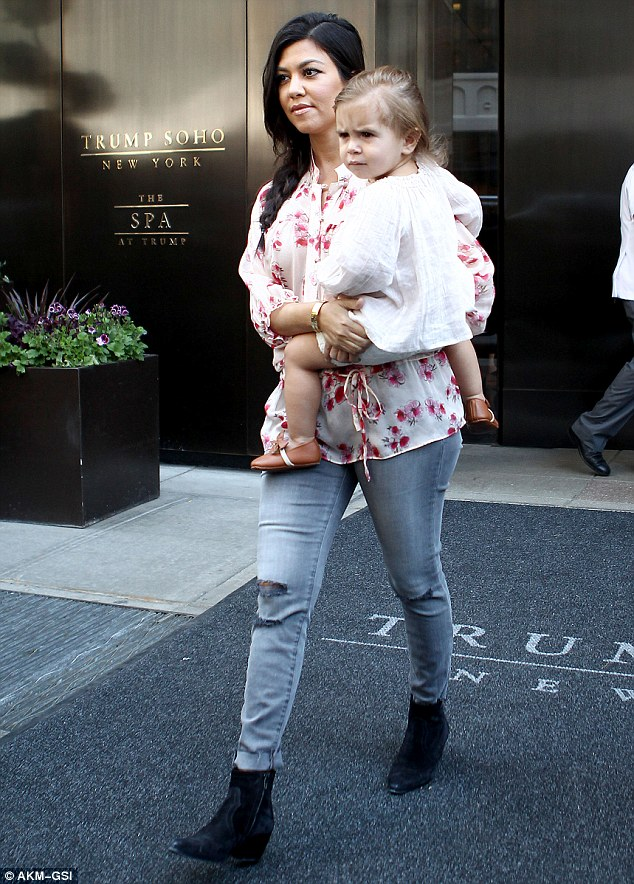 Daddy's girl: It was easy to see the Disick side in Penelope, who looked just like her father