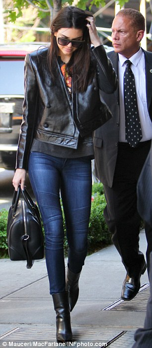 Uptown girl: While the older members of the family were busy in the Hamptons Kendall Jenner was busy strutting around New York