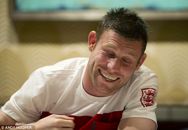 Seen it all before: James Milner joked that the rain in Miami reminded him of being in Manchester