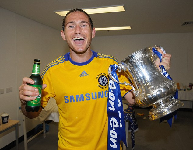 Another cup: Lampard celebrates with the FA Cup in 2009