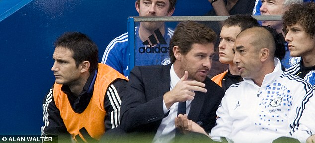 Not seeing eye to eye: Lampard did not get on with ex-Chelsea boss Andre Villas-Boas