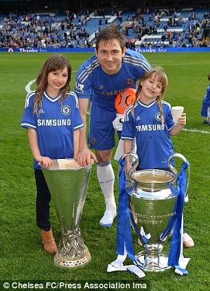 Big part of his life: Lampard will think of daughters Isla and Luna before making a decision on his next move