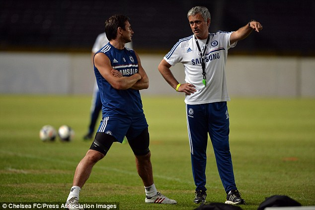 Reunited: Lampard final season at Chelsea was also Mourinho's first season back at the club