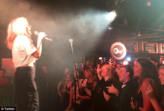 All the lights! Singer Ellie Goulding entertained the crowd at the event held in her honour
