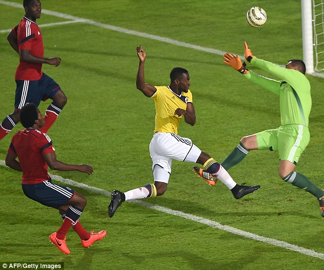 Prowess: The forward has 8 goals in 26 games for Colombia