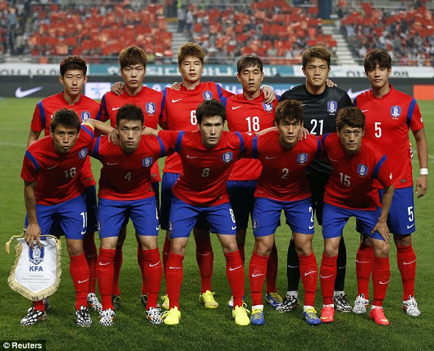 Belief: South Korea will be hoping to match their best ever World Cup on home soil in 2002, when they reached the semi-final