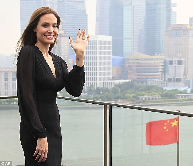 Give us a wave! The actress was clearly delighted to be promoting her latest hit film overseas