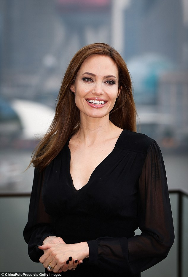 Actress Angelina Jolie attends Maleficent photocall at The Bund in Shanghai, China