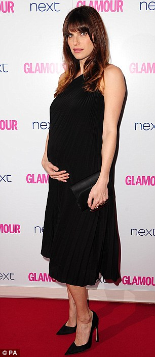 Who needs colour? Pregnant Lake Bell and Tess Daley stick to black for the night of fashion