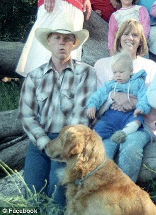 Before the beard: Bob Bergdahl poses with Country and Western star Ashley Monroe in the weeks after his son disappeared, left. He is also pictured right in a cowboy hat at a family reunion some years ago