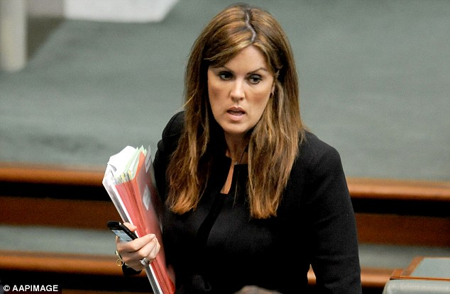 Power behind the throne: Billionaire MP Clive Palmer's claims the government's paid parental leave scheme was designed 'just so that the Prime Minister's chief-of-staff (Peta Credlin, pictured) can receive a massive benefit when she gets pregnant' have been widely condemned as insensitive to Ms Credlin who has struggled to conceive on an IVF programme. But the 43-year-old is widely regarded as the 'power' and the 'brains' behind Tony Abbott