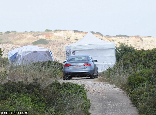 Focus: At least 12 areas of interest have been identified and major digging works, likely to be carried out in tents like these, will happen throughout the week