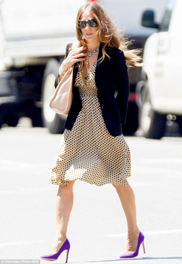 Dotty about style: Sarah Jessica Parker was a breath of fresh air  in New York on Monday