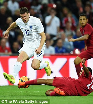 Full of running: Milner against Peru