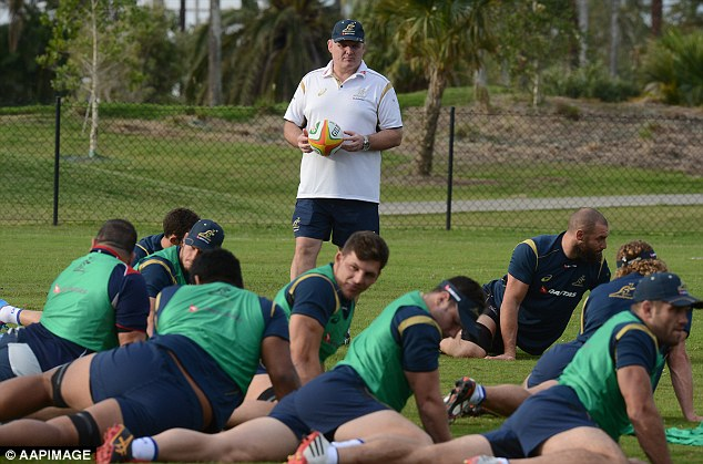 Bold selection: Wallabies head coach Ewen McKenzie oversees training in Brisbane on Tuesday