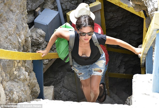 Treating herself: The former OC actress jetted to the Caribbean within days after news of her pregnancy first broke