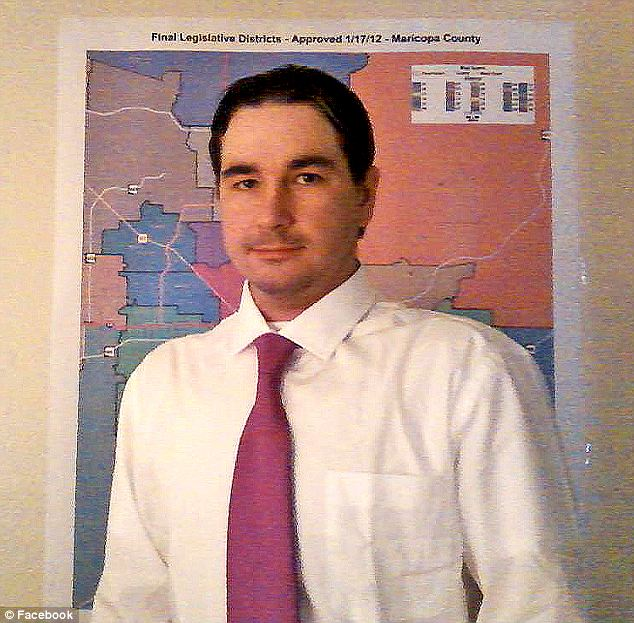 Bending to the audience: Scott Fistler (pictured) changed his name in November to Cesar Chavez and has since changed his political alliance from Republican to Democratic as he runs for congressional office