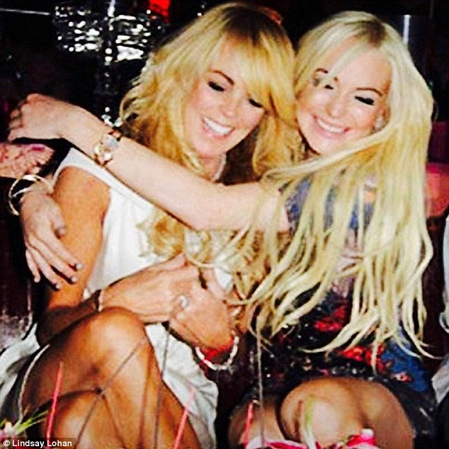Bad influence? Lindsay Lohan tweeted this picture of her and her mother Dina earlier this year