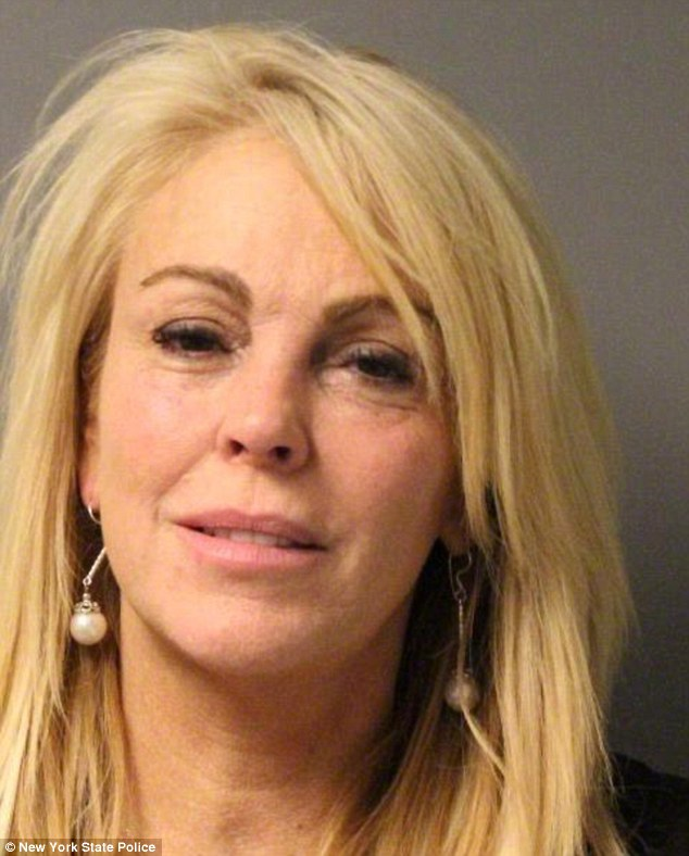 Busted: The 51-year-old was arrested last September on the Northern State Parkway after doing 77 mph in a 55 mph zone