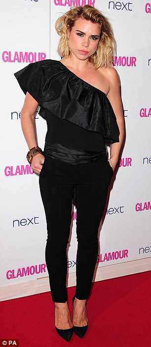 Bucking the trend: Billie Pier and Claudia Winkleman go for trousers rather than dresses
