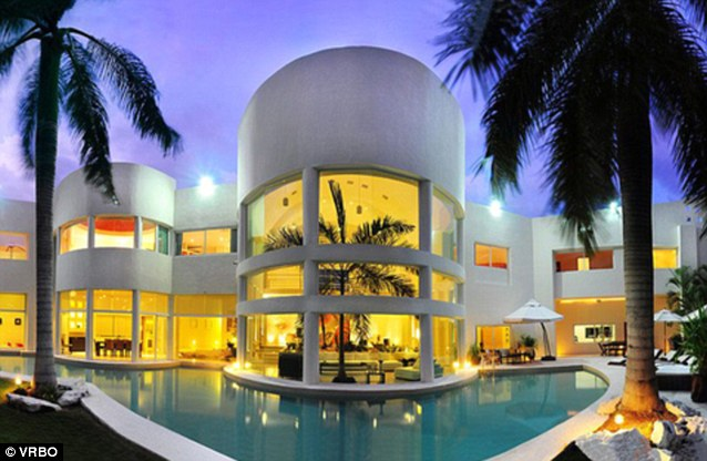 In hiding: Bieber has holed up at this luxury Mexican villa while he waited for the race row to blow over, it has was revealed