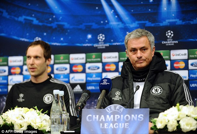 Decisions: Jose Mourinho (right) must choose between Petr Cech (left) and Courtois next year