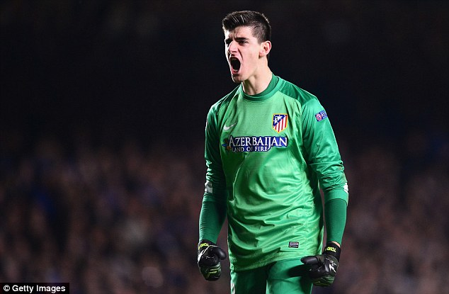 Keeper: Thibaut Courtois will be part of the first-team plans at Chelsea instead of returning to Atletico Madrid