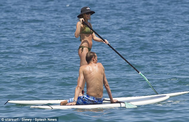 This is the life: The happy couple were in high spirits during their latest outing in Hawaii