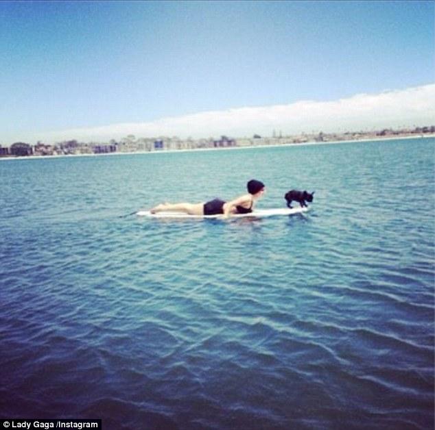 Splish splash! On Tuesday morning, she and her dog Asia had an aquatic adventure