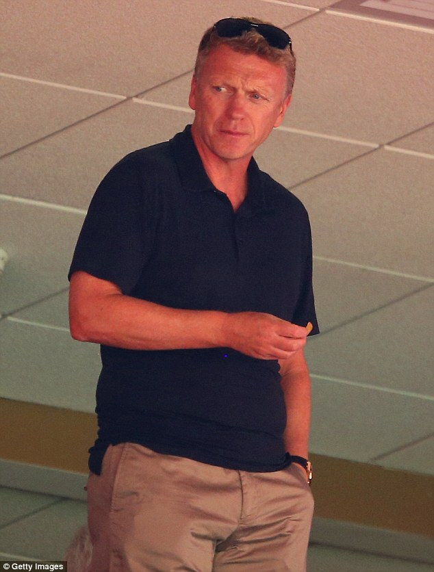 Watching on: Former Manchester United manager David Moyes attended England's game against Ecuador