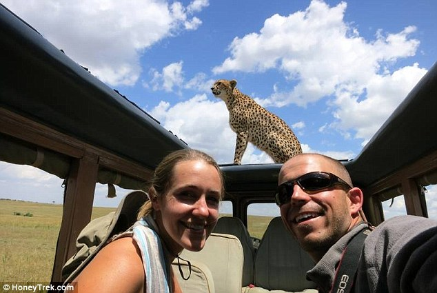 The epic adventure took in 41 different safaris including the Masai Mara in Kenya