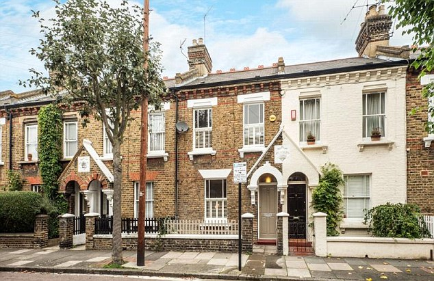 Rocketing: House prices in London have risen by 18 per cent over the past year and a humble terrace home can set buyers back £800,000 or more