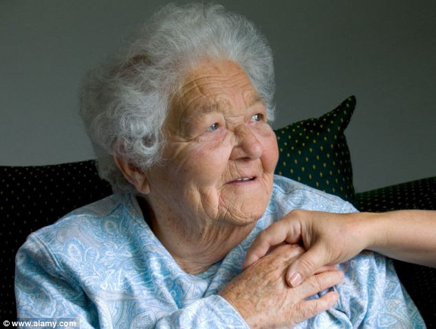 Rise: Care homes and the NHS will struggle to cope as Britain's centenarian population soars, experts have warned. Around 35,000 people have lived to see their 100th birthday in England in the past ten years (file image)