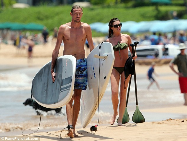 The couple that paddle together... Abbey and Peter appear to have lots in common