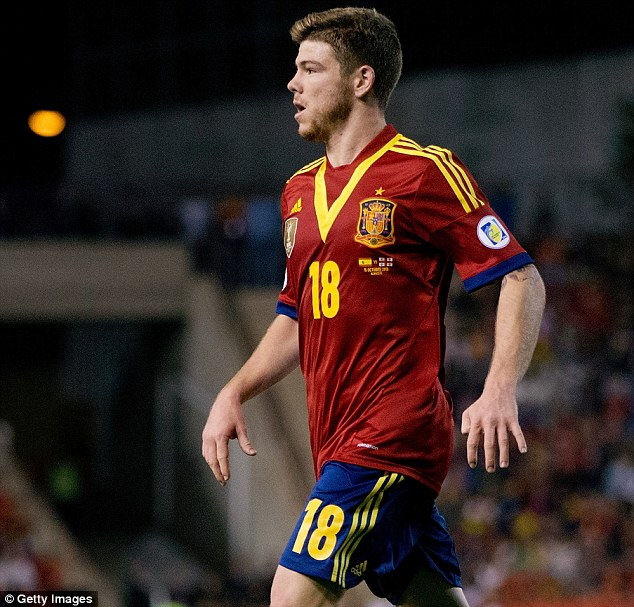 Future potential: Moreno has three caps for Spain at just 21-years-old
